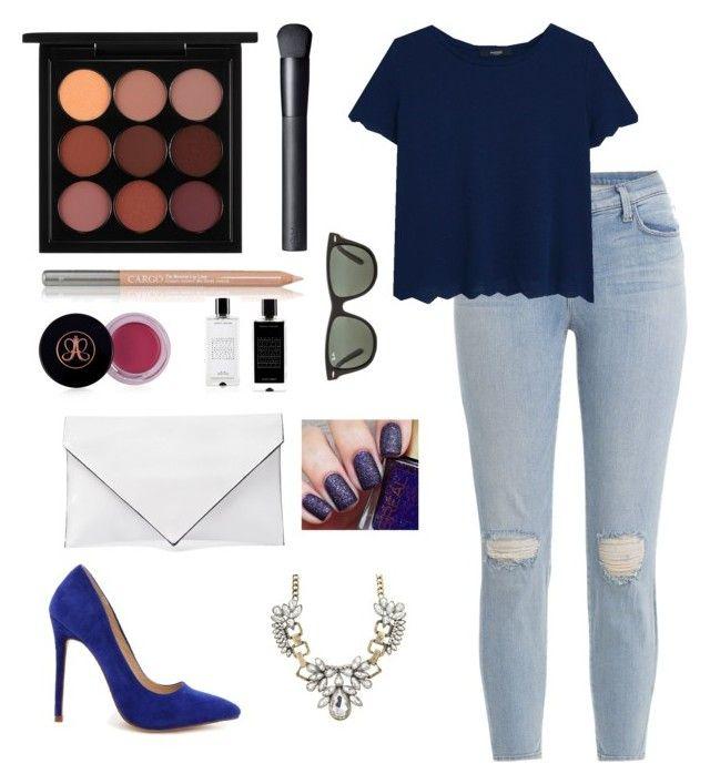 """Day 80"" by msmaharaja ❤ liked on Polyvore featuring moda, MAC Cosmetics, NARS Cosmetics, CARGO, Anastasia Beverly Hills, J Brand, Agonist, MANGO, Verali y Liliana"