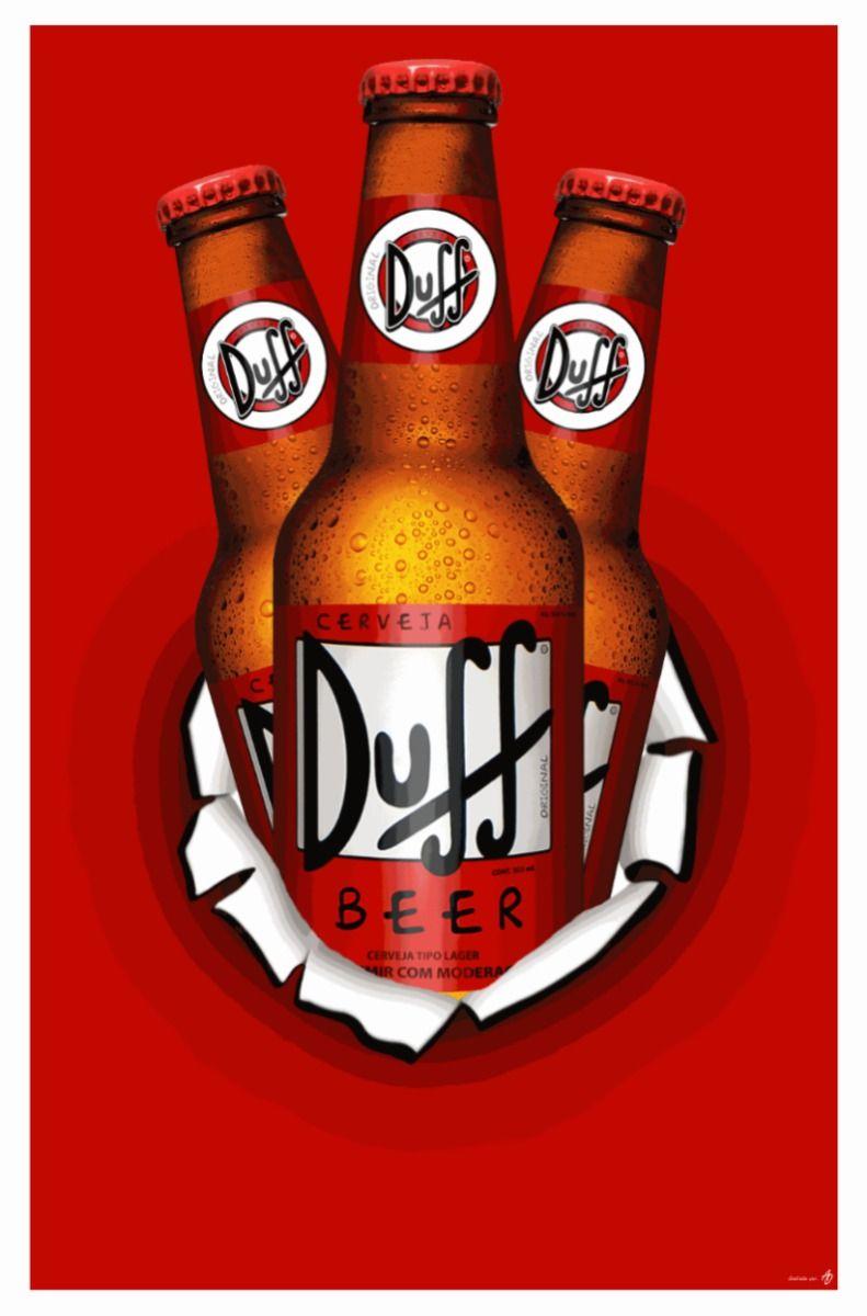 43ab6b1027 Cerveja Duff Dos Simpsons - Duff Beer | Imprimir | Cerveja, Cerveja ...