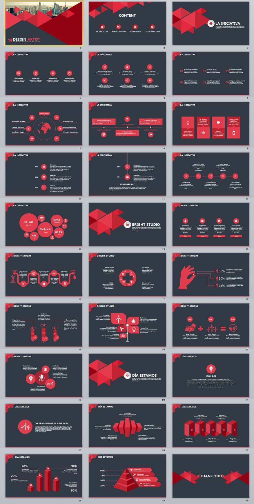 30 Design Artist Powerpoint Presentation Template Pinterest