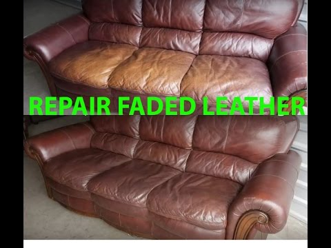 How To Repair Restore Faded Leather Quickly Easily It Looks Feels New Youtube Leather Restoration White Leather Sofas Leather Sofa