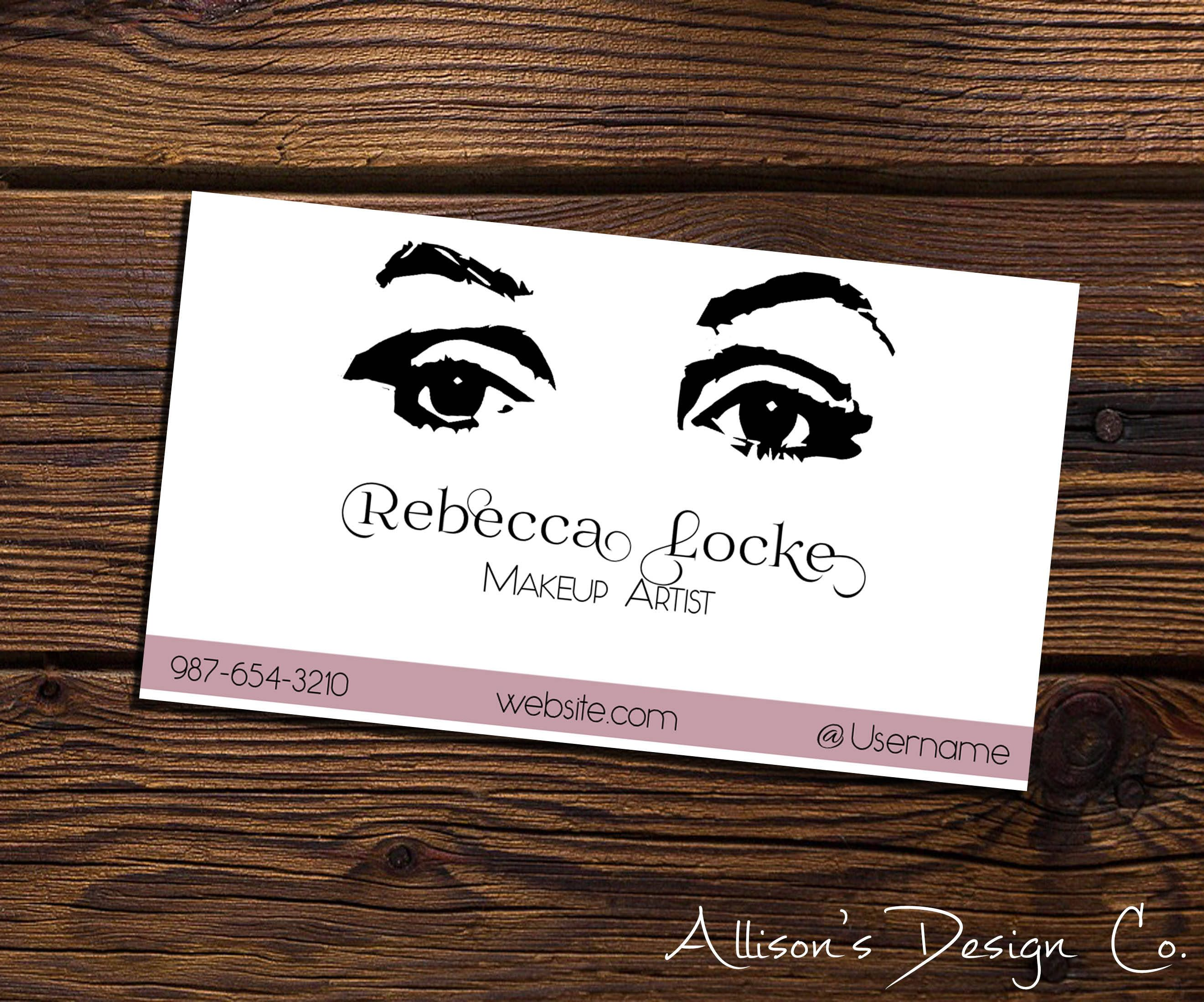 Makeup Artist Eyes - Custom Business Card | Digital File by ...