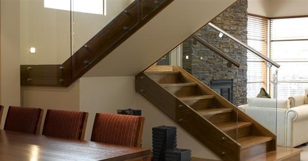 Modern U Shaped Wooden Stair