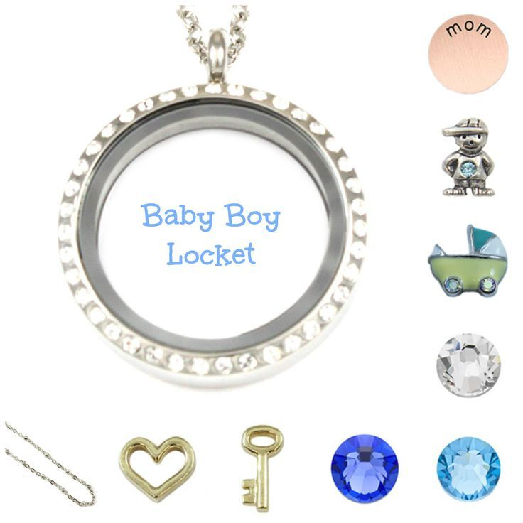 floating children baby boy locket memory stones and lockets proddetail charm au stix for child blue