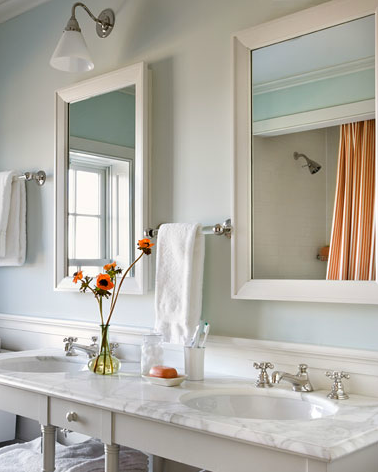 Child S Bathroom By Gil Schafer Nice Placement Of Towel Rack