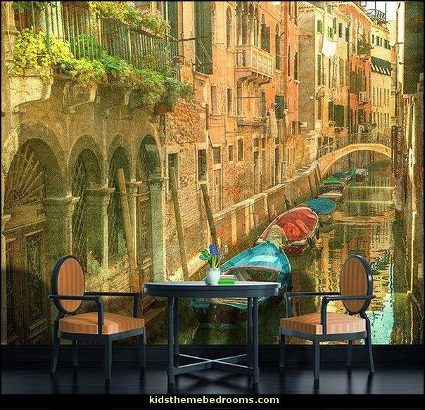 Vintage Venice C Italy Wallpaper Mural Tuscany Vineyard