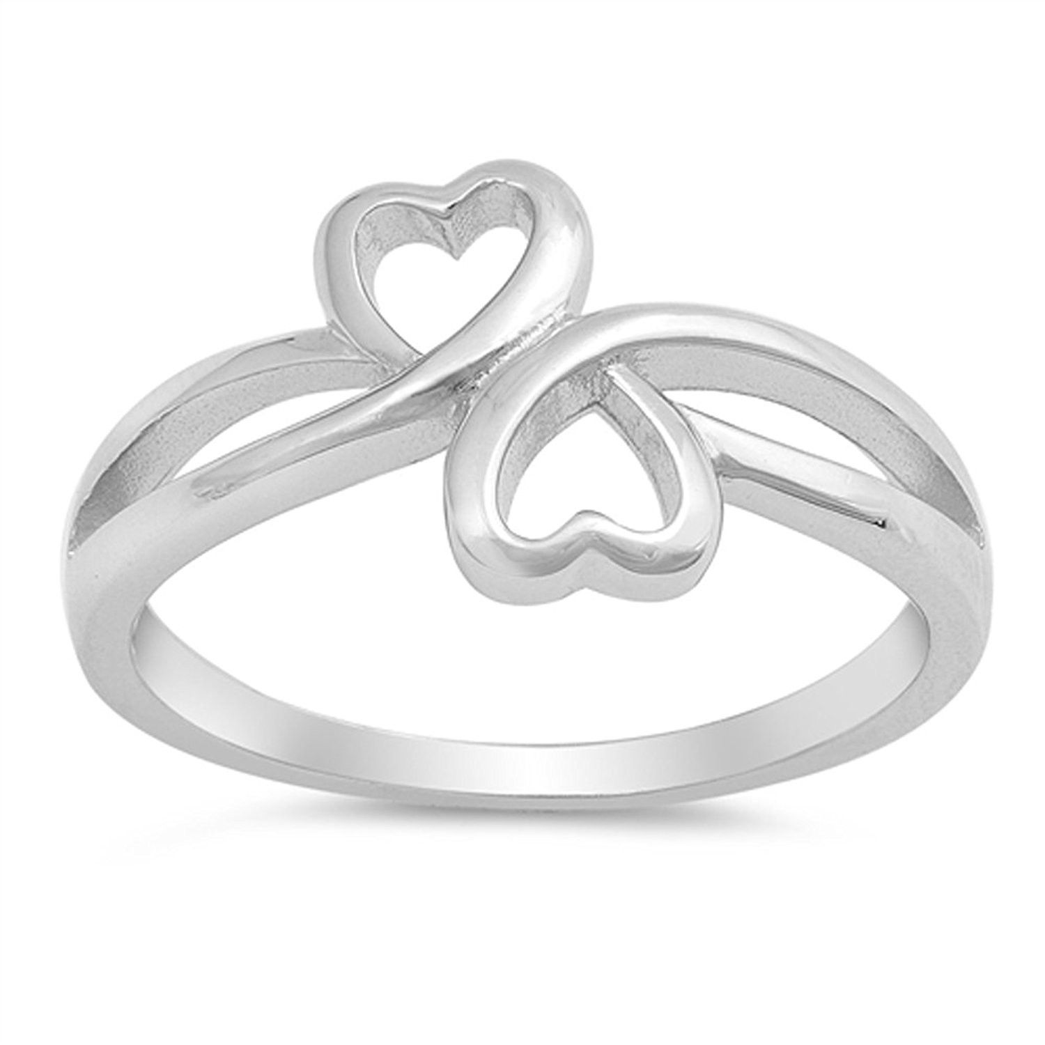 Infinity Ring Nouveau .925 Sterling Silver Band