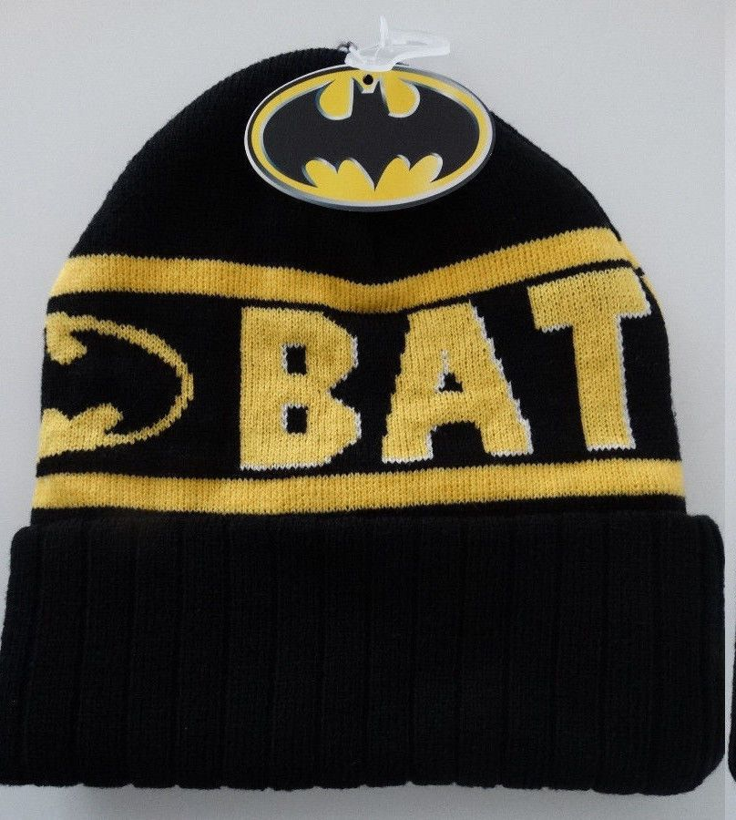 86019f05178 Batman Wrap Around Logo Dc Comics Knit Cuff Beanie Hat Nwt  Batman  Beanie