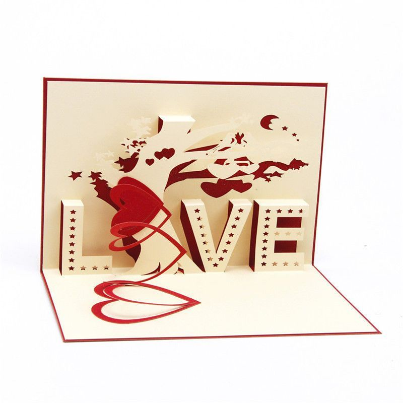 3d Pop Up Greeting Cards Love Wedding Birthday Valentines Anniversary Thank Gift Ebay Pop Up Card Templates Valentines Cards Pop Up Cards