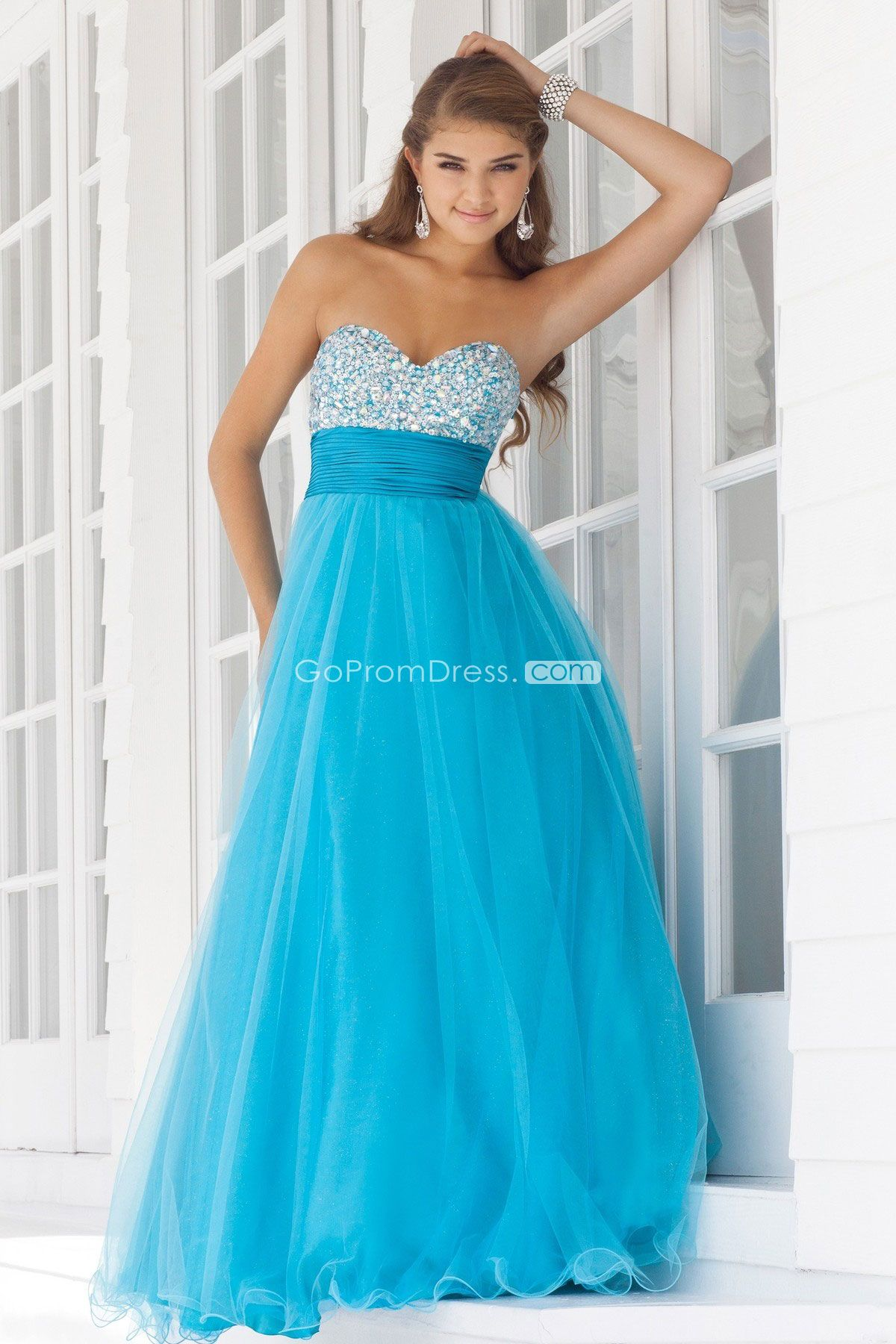 Glamorous Beaded Tulle Ball Gown Empire Prom Dress picture 1 ...