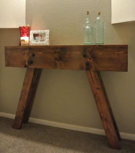 small entry way furniture reclaimed wood hallway table entryway table by craigmoodiedesigns