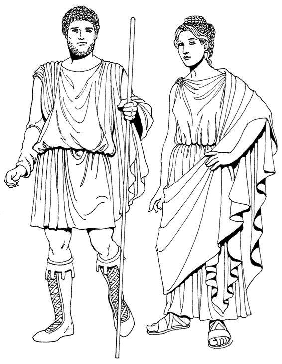 vestuario masculino y femenino de la antigua Roma. fotos | GRECIA Y ...