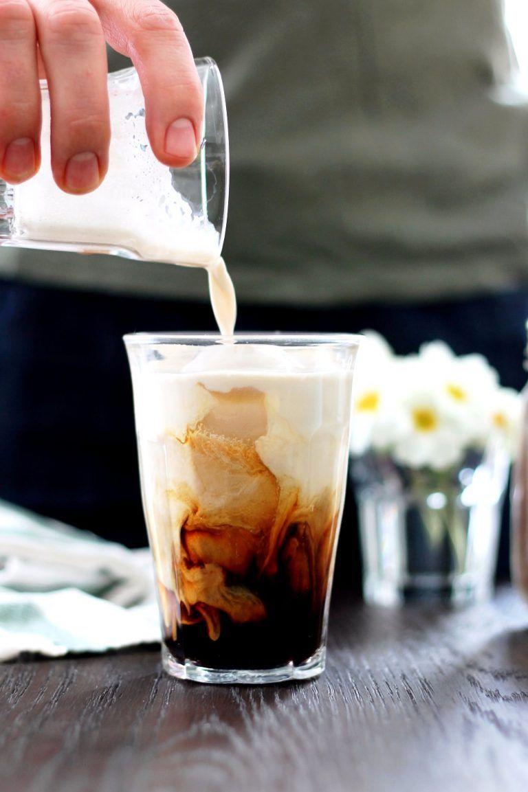 Iced creamy almond milk latte recipe almond milk latte