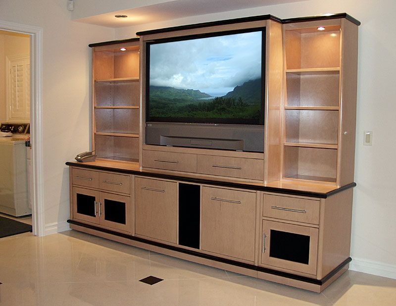 Custom Wall Unit With Display Cases Like The Concept Not So Much Colour Tv Showcase