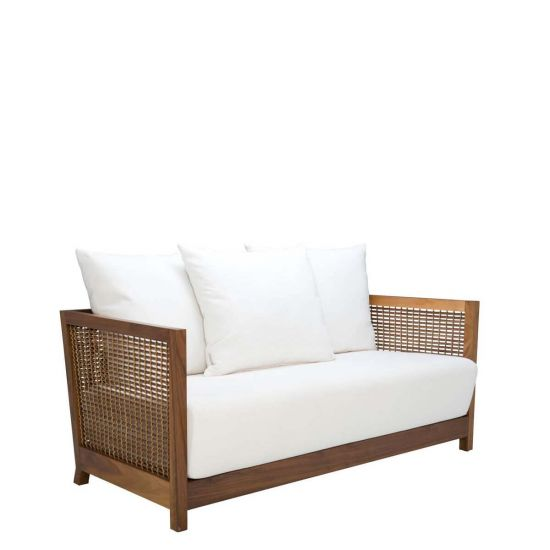 Suzy Wong Low Back Loveseat Walnut In 2020 With Images Low