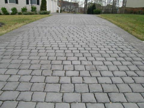 Nice Pattern For Driveway With Board Could Add Color As