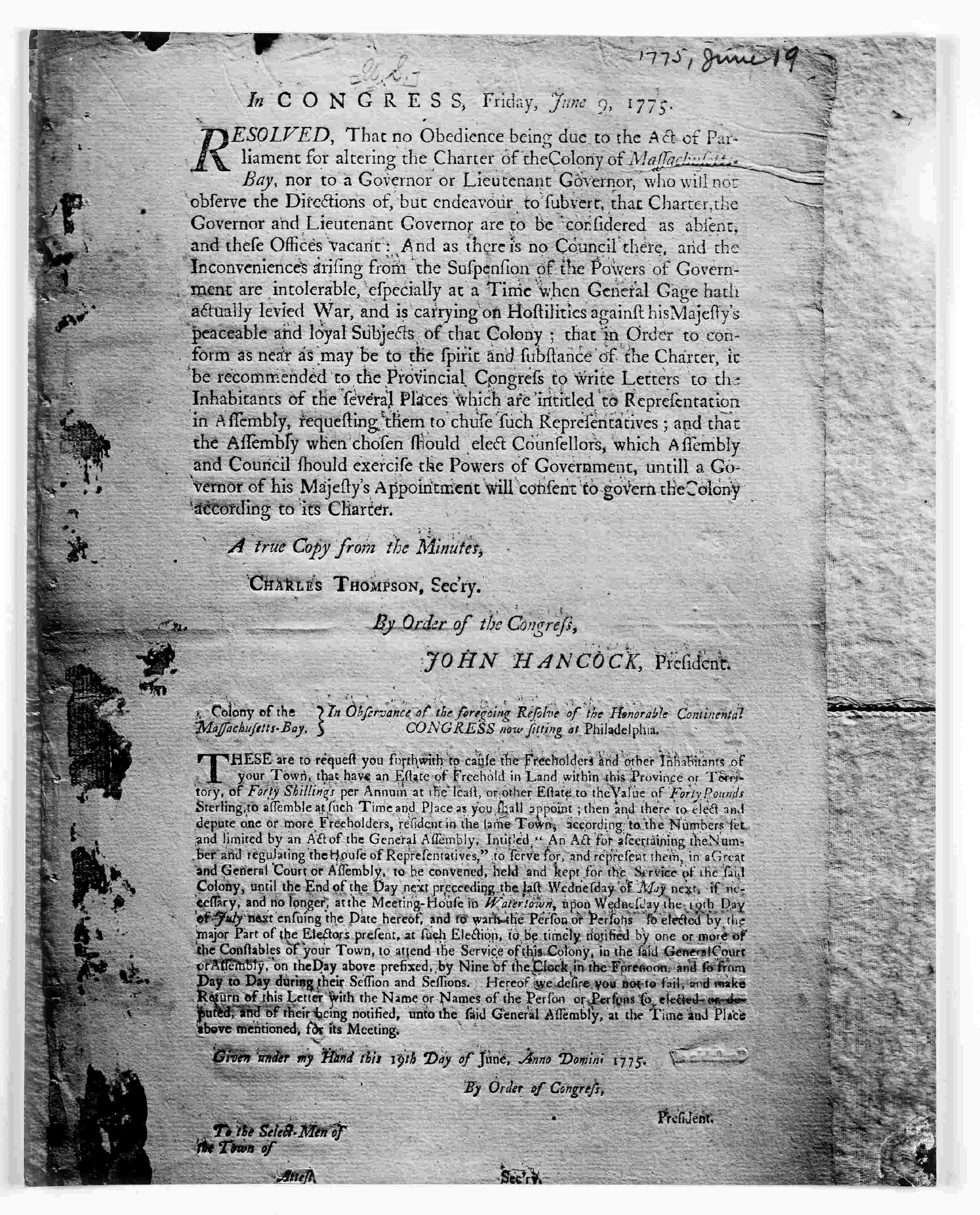 Boston No Tolerance For Intolerable Acts