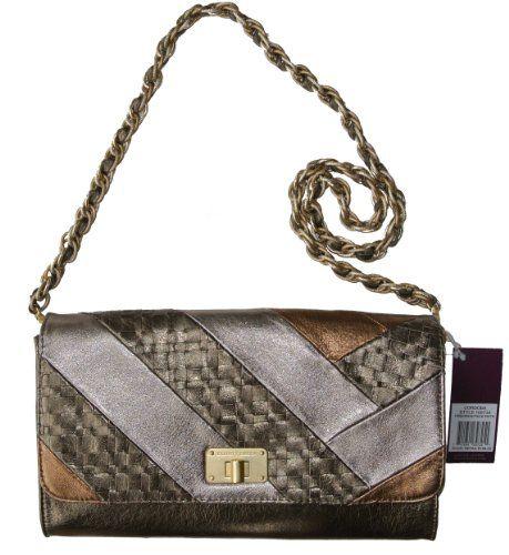 Elliott Lucca Cordoba Large Clutch Handbag Piece Pewter Genuine Leather fcfd342053a6f