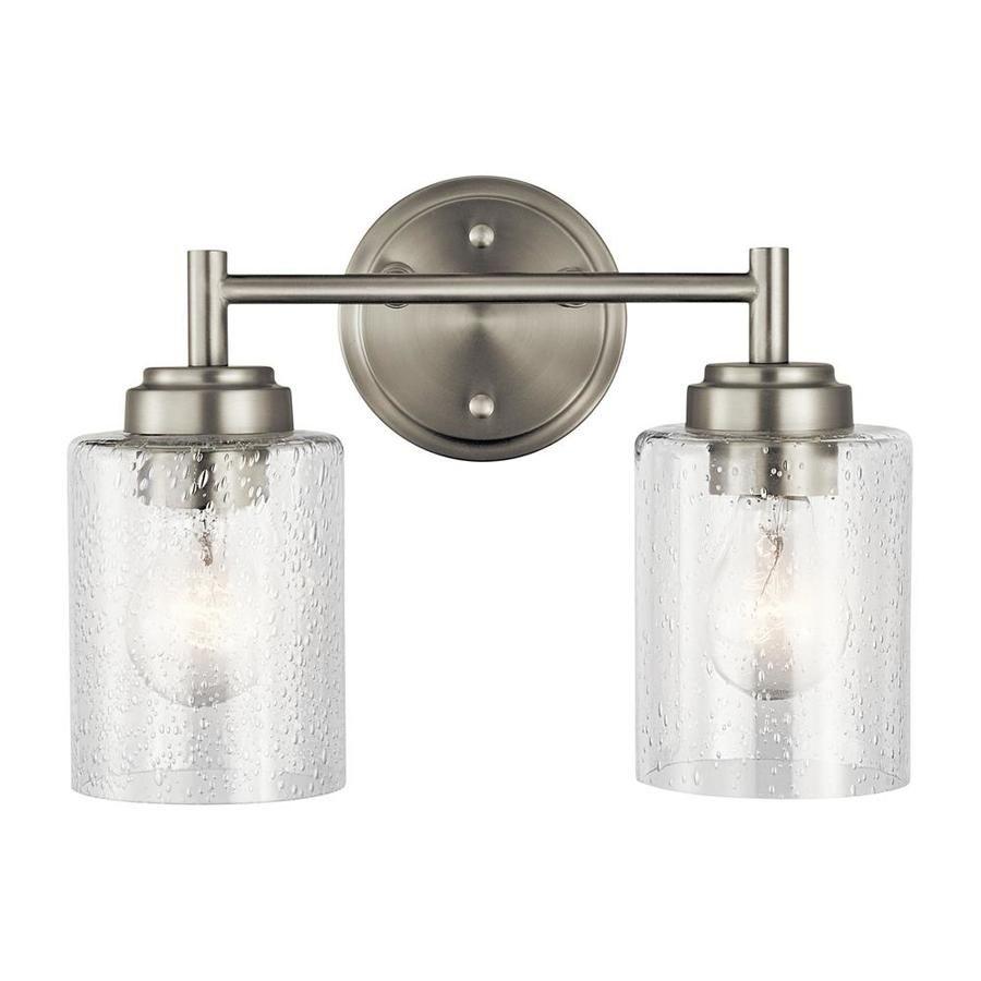 Kichler Winslow 2 Light 9 25 Brushed Nickel Cylinder Vanity