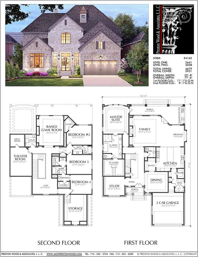 Unique Two Story House Plan Floor Plans For Large 2 Story Homes Desi Preston Wood Associates Home Decor In 2019 Pinterest Two Story House Plans Ho