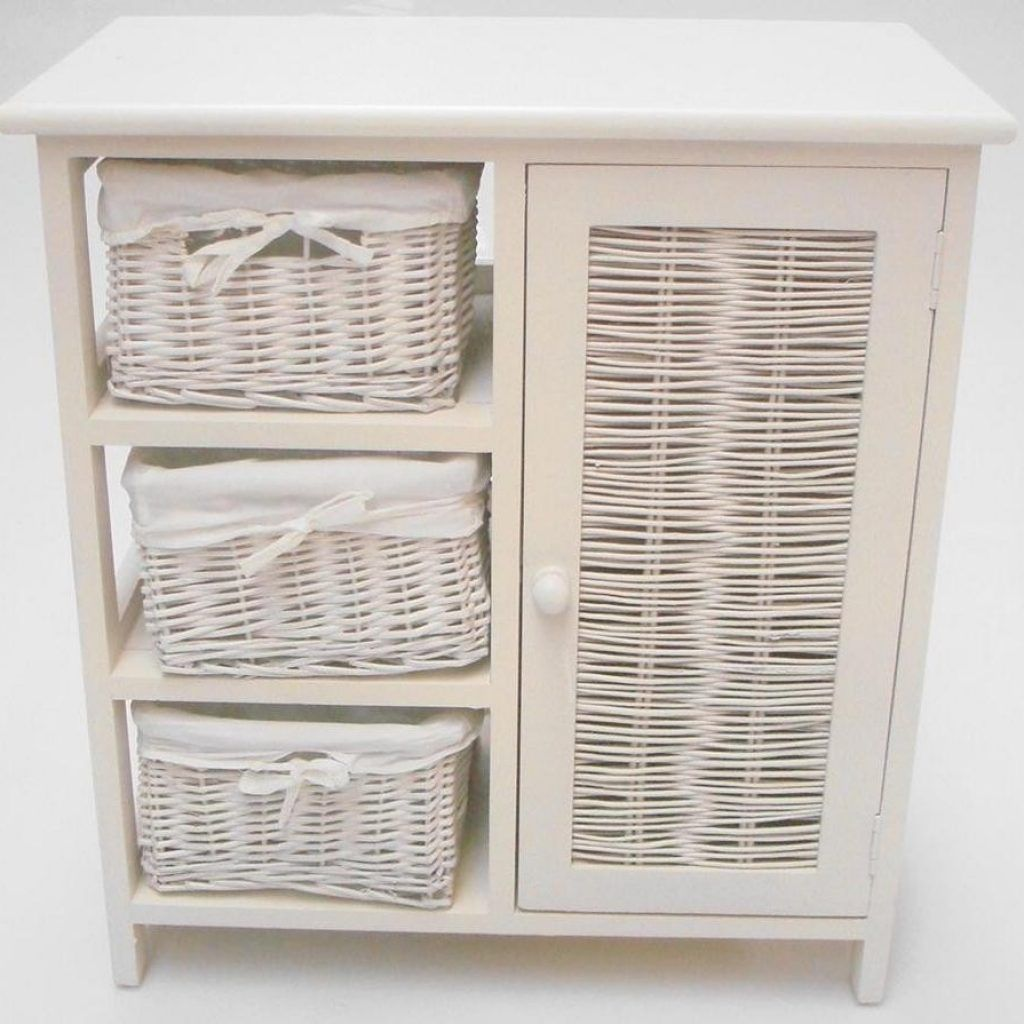 Photo Gallery Website White Wicker Bathroom Storage Cabinets