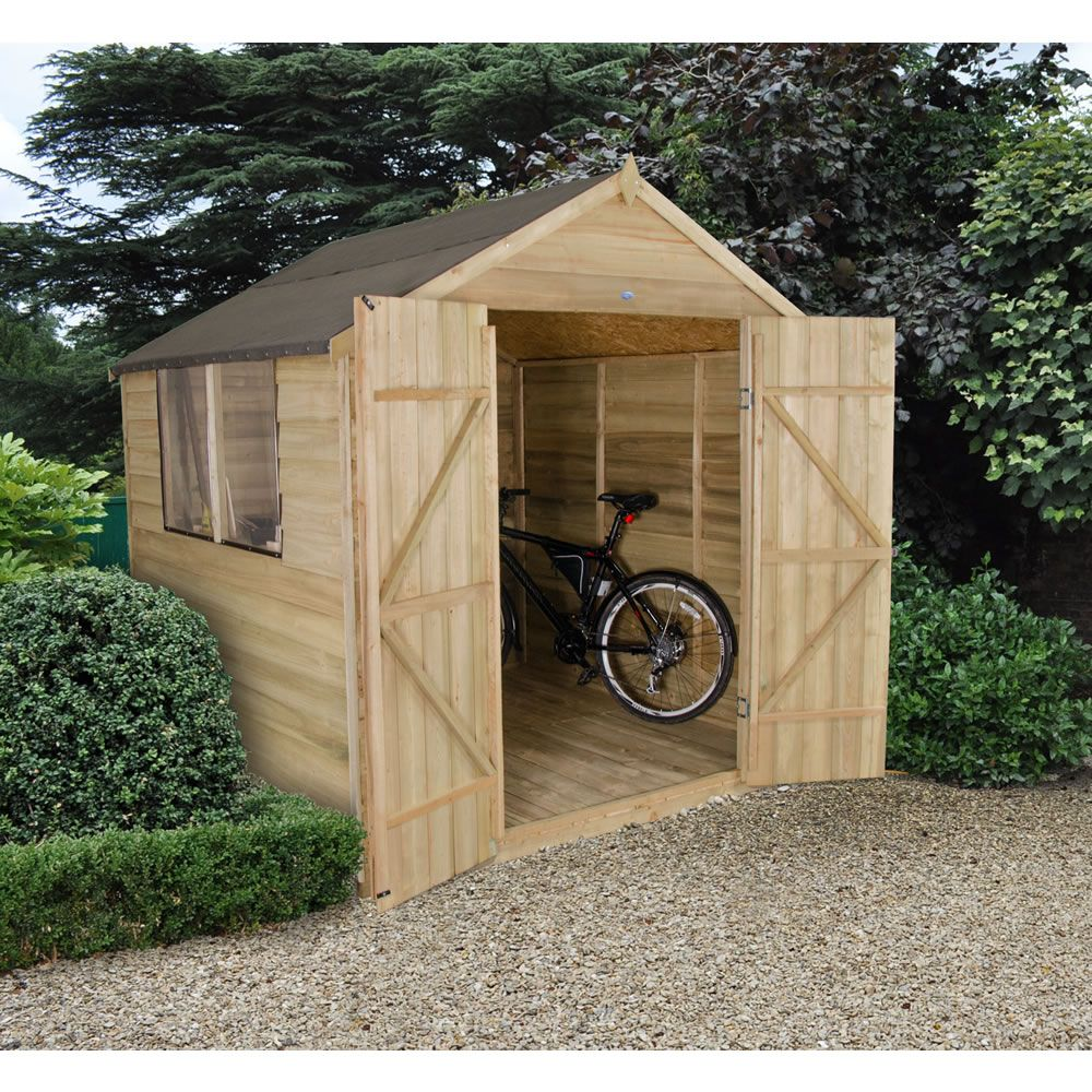 double door overlap apex shed 7x7