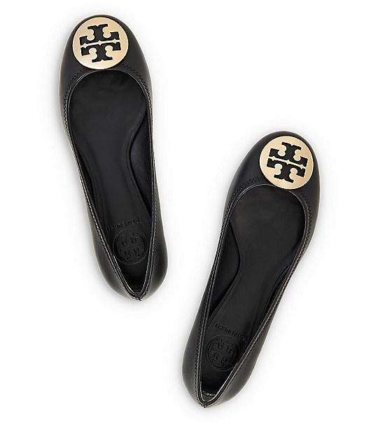 $225 Tory Burch REVA BALLET FLATcolor: black or beige