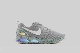 sports shoes 7af4e 6ba16 Nike Roshe Run Air Mag Grey Led 417744 001 Mens Running Shoes
