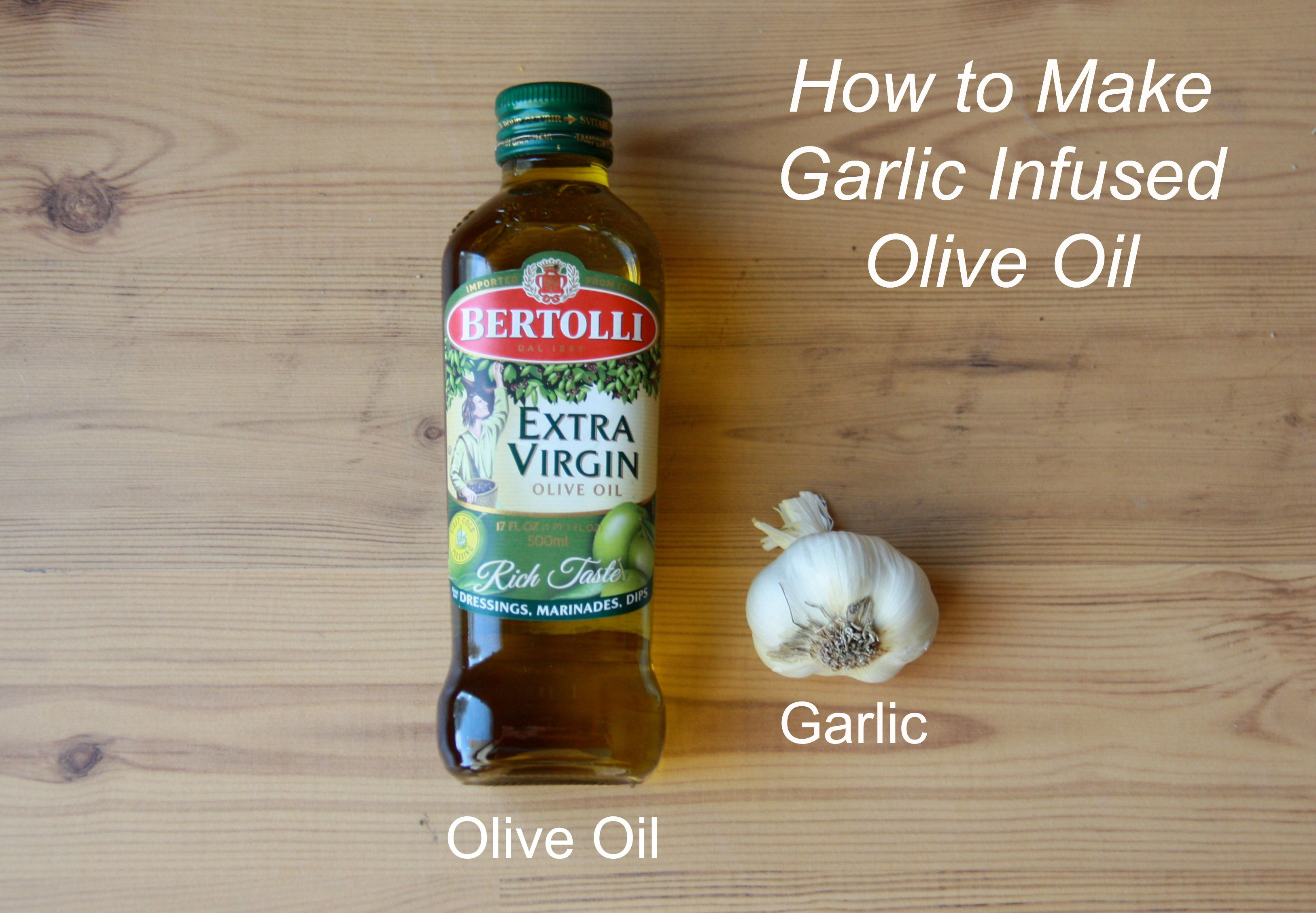How to Make Garlic Infused Oil #oliveoils