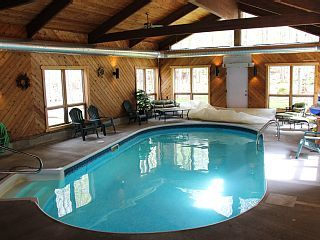 Deer Meadow Adirondack Ranch With Indoor Poolvacation Rental In Old Forge From Homeaway Vacation Rental Travel Ho Pools Vacation Indoor Pool House Rental