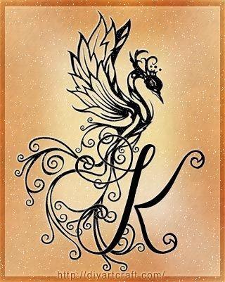 Letter K Tattoo Designs Phoenix More