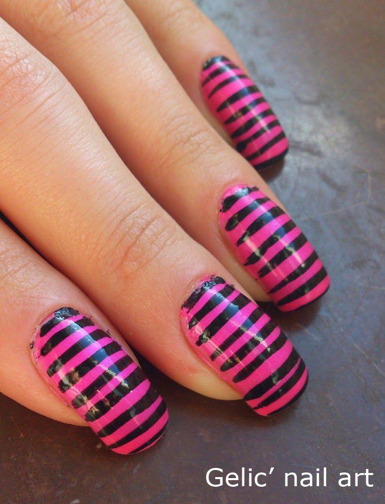 Gelic\' nail art: Simple Piglet nail art | NAILS | Pinterest ...