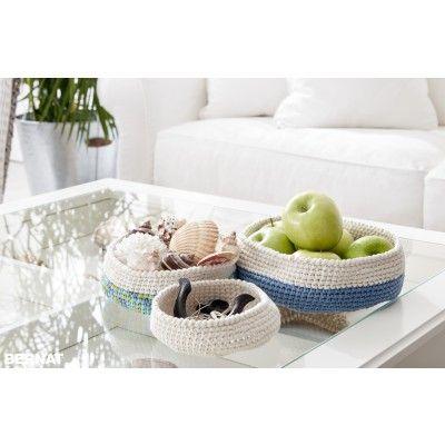 Decorative Bowls For Coffee Table Free Easy Decorative Bowls Crochet Pattern  Bernat
