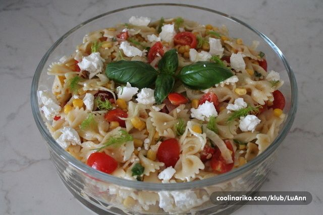 Salata od tjestenine sa rajcicama i kukuruzom — Coolinarika
