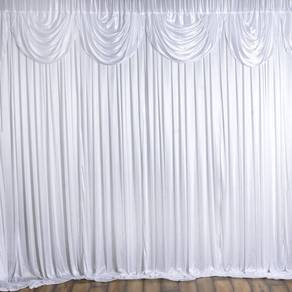 20ft X 10ft White Classic Double Drape Backdrop Custom Drapes