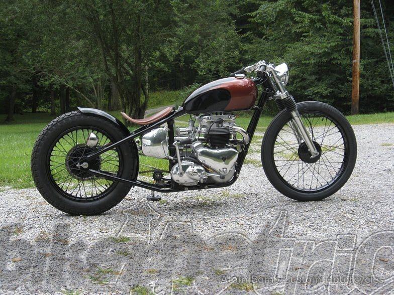 atom bomb 1962 triumph bobber motorcycle