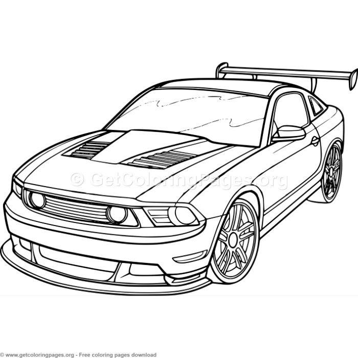 3 Race Car Coloring Pages