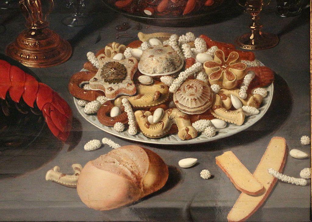 David rijckaert II, natura morta con nautilo, aragosta, frutti di mare e  dolcetti 02.JPG - By Sailko - Own work, CC BY 3.0, https://commons.wikimedia.org/w/index.php?curid=48836969