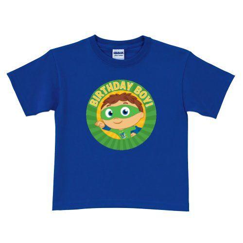 Search Super Why Birthday Boy Royal Blue T Shirt Size 4t
