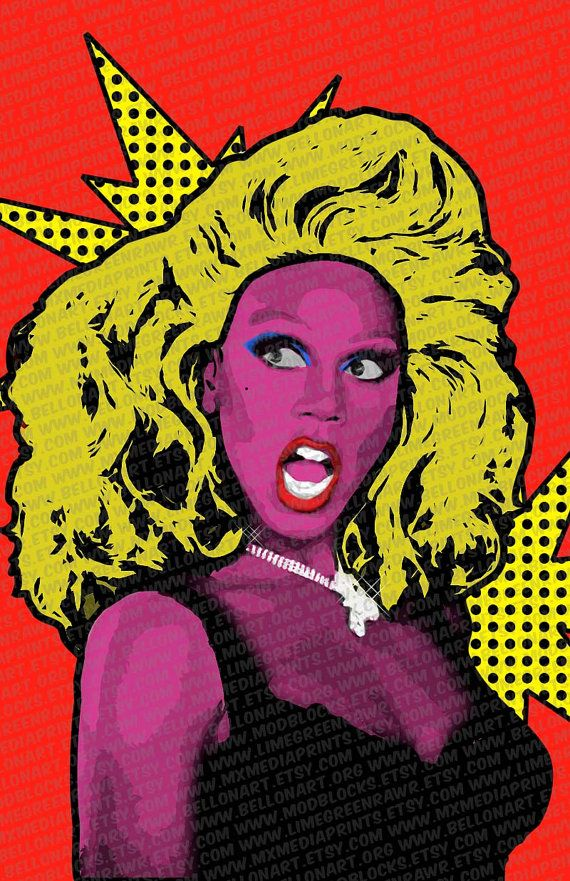 pop art rupaul available in various sizes by mxmediaprints the