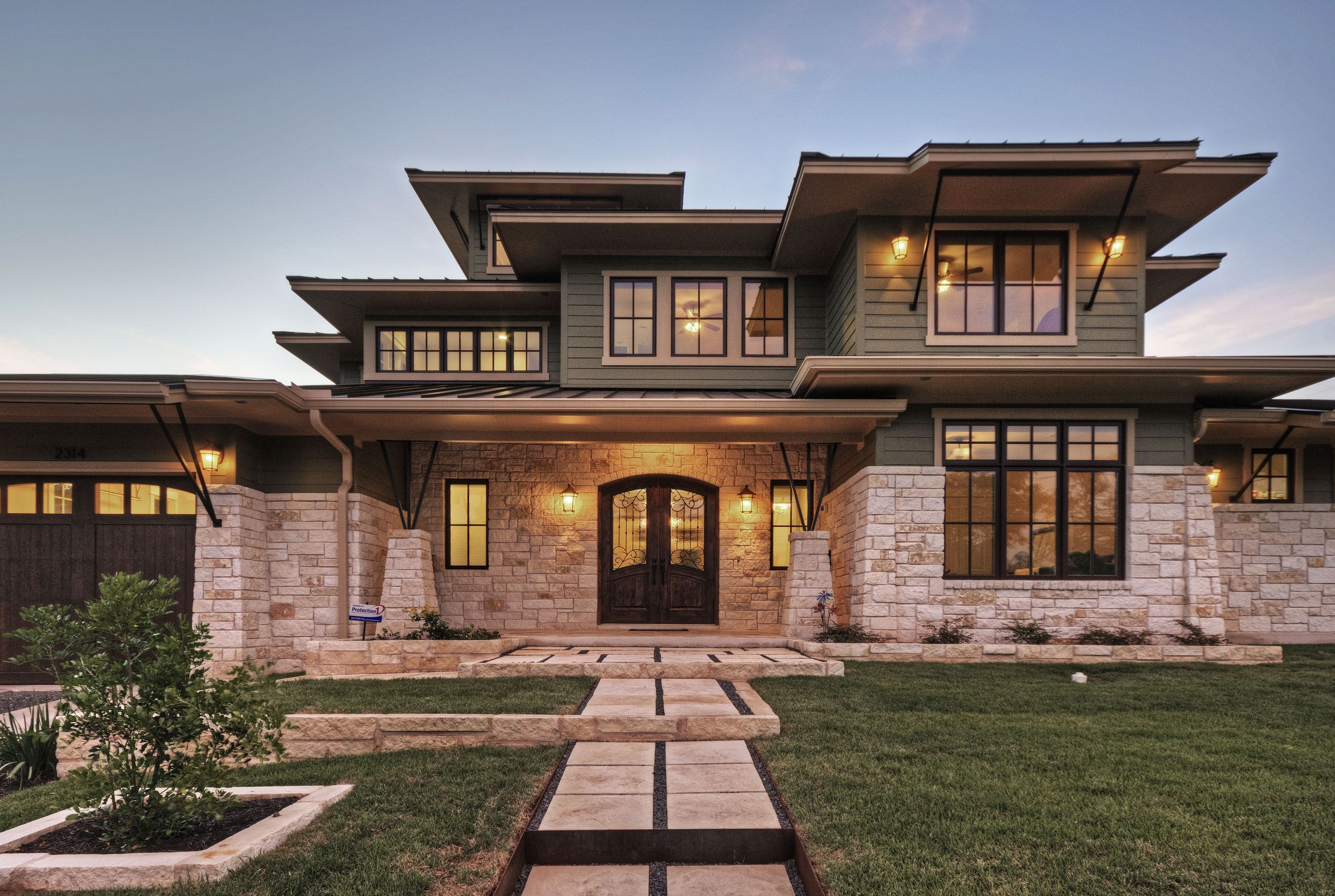 The Home Has A Native Limestone Exterior
