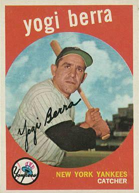 1959 Topps Yogi Berra 180 Baseball Card Value Price Guide Baseball Cards Baseball Card Values Old Baseball Cards