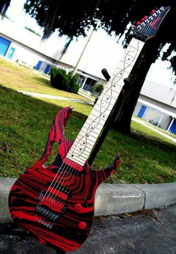 Ibanez JEM 7 string heavily modded | Guitars | Pinterest | 7
