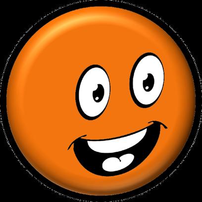 Dz Smiley Emoticone Clipart Cartoon Visage Orange Heureux Content Sourire Fond Transparent Gratuit La Collection A Telecharger Emoji Smiley Emoticon