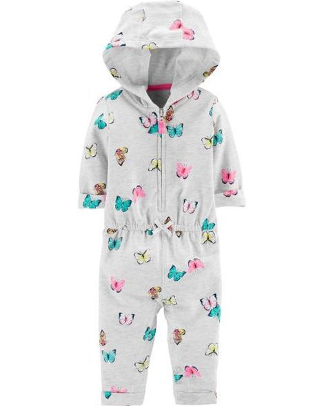 3f4827e66dab Hooded Zip-Up Butterfly Jumpsuit