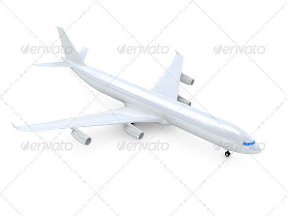 White Airplane   D Aerospace Air Airbus Aircraft Airlines