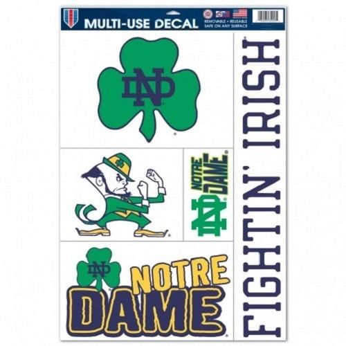 NCAA Notre Dame Fighting Irish Ultra Decals Set of 5 By WINCRAFT