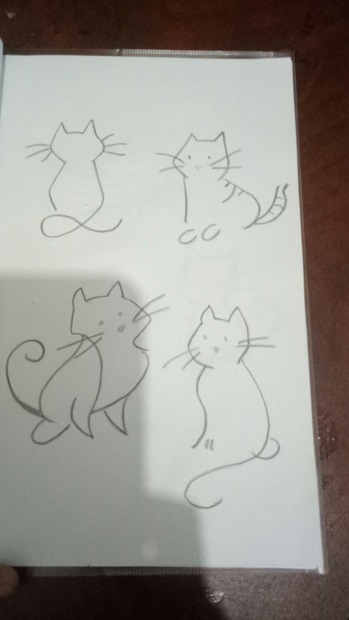 Easy Cat Drowing Art Female Sketch My Arts