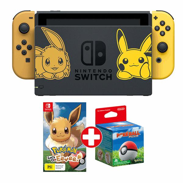 Nintendo Switch Pokemon Let S Go Eevee Limited Edition Console Eb Games Australia Nintendoswitch Pokemon Nintendo Switch Games Nintendo Switch