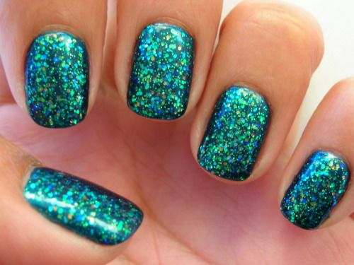 Untitled Green Nails Glittery Nails Trendy Nails