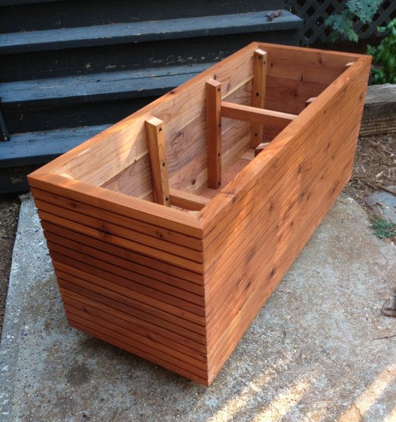 Now Available In 36 High Tall Modern Redwood Planter Boxes Free